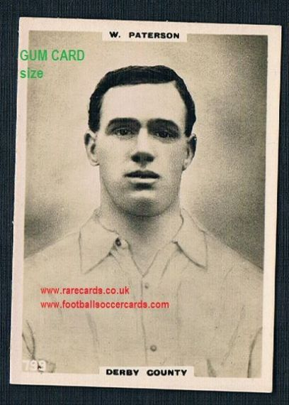 1922 Pinnace GUM CARD SIZE 799 Derby County Paterson FRAMELINES